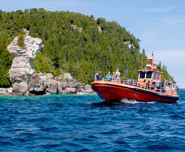 Glass Bottom Jet Boat Cruise to Flowerpot Island and Shipwrecks